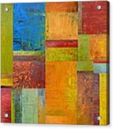 Abstract Color Study Collage Ll Acrylic Print
