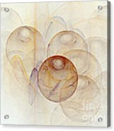 Abstract Colorful 3d Bubbles Fractal  Acrylic Print
