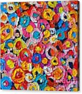Abstract Colorful Flowers 1 - Paint Joy Series Acrylic Print