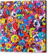 Abstract Colorful Flowers 3 - Paint Joy Series Acrylic Print