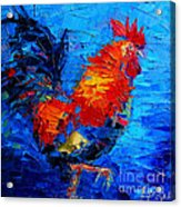 Abstract Colorful Gallic Rooster Acrylic Print
