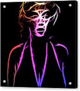 Abstract Colorful Monroe Acrylic Print