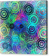 Abstract Colorful Rings Acrylic Print