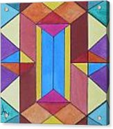Abstract Colorful Stained Glass Window Design  Acrylic Print