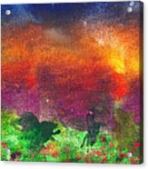 Abstract - Crayon - Utopia Acrylic Print by Mike Savad