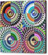Abstract Digital Art Collage Acrylic Print