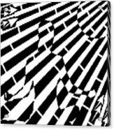 Abstract Distortion Sun Meditation Maze  Acrylic Print