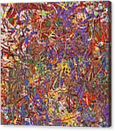 Abstract - Fabric Paint - String Theory Acrylic Print by Mike Savad