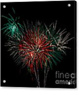 Abstract Fireworks Acrylic Print by Robert Bales