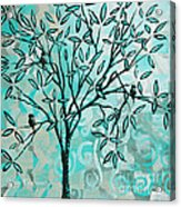 Abstract Floral Birds Landscape Painting Bird Haven II By Megan Duncanson Acrylic Print