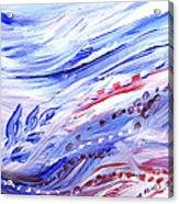 Abstract Floral Marble Waves Acrylic Print