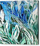 Abstract Floral Sky Reflection Acrylic Print