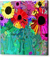 abstract - flowers- Flower Power Four Acrylic Print