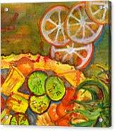 Abstract Food Kitchen Art Acrylic Print