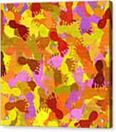 Abstract Footprints Acrylic Print