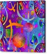Abstract Fractillious - Episode One  Southwestern Acrylic Print