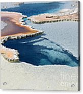 Abstract From The Land Of Geysers. Yellowstone Acrylic Print