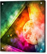 Abstract Full Moon Spectrum Acrylic Print by Phil Perkins