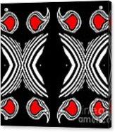 Abstract Geometric Black White Red Op Art No.385. Acrylic Print by Drinka Mercep