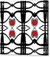 Abstract Geometric Black White Red Pattern Art No.173. Acrylic Print