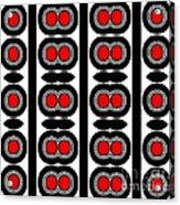 Pattern Black White Red Art No. 379. Acrylic Print by Drinka Mercep