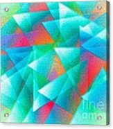 Abstract Geometry Of Triangles In Digital Art Acrylic Print by Mario Perez