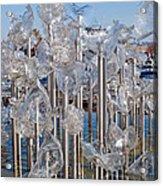Abstract Glass Art Sculpture Acrylic Print