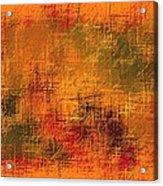 Abstract Golden Earth Tones Abstract Acrylic Print