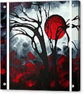Abstract Gothic Art Original Landscape Painting Imagine By Madart Acrylic Print