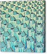 Abstract Green Glass Bottles Acrylic Print