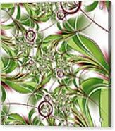 Abstract Green Plant Acrylic Print