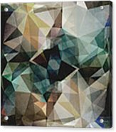Abstract Grunge Triangles Acrylic Print