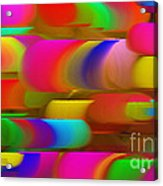 Abstract Hair Curlers Painting Acrylic Print