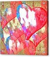 Abstract Hearts 16 Acrylic Print