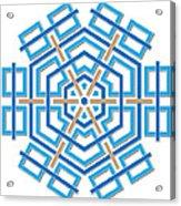 Abstract Hexagonal Shape Acrylic Print