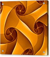 Abstract In Amber Acrylic Print