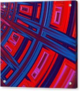 Abstract In Red And Blue Acrylic Print