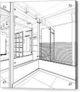 Abstract Interior Construction Acrylic Print