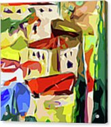 Abstract Italy Lago Di Como Acrylic Print by Ginette Callaway