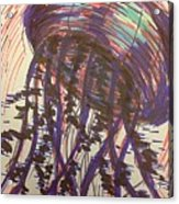 Abstract Jellyfish In Ink Acrylic Print
