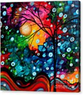 Abstract Landscape Colorful Contemporary Painting By Megan Duncanson Brilliance In The Sky Acrylic Print by Megan Duncanson