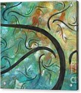 Abstract Landscape Painting Digital Texture Art By Megan Duncanson Acrylic Print