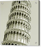 Abstract Leaning Tower Of Pisa Acrylic Print