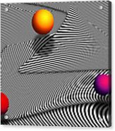 Abstract - Lines - That's A Moire Acrylic Print