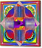Abstract Mandala Acrylic Print