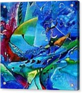 Abstract Mindscape No.5-improvisation Piano And Trumpet Acrylic Print by Wolfgang Schweizer