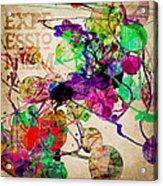 Abstract Mixed Media Acrylic Print