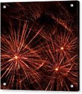 Abstract Of Fireworks On Black Acrylic Print