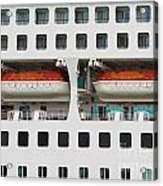 Abstract Of Lifeboats On A Large Cruise Ship Acrylic Print