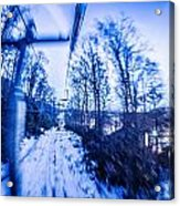 Abstract On A Ski Lift Acrylic Print